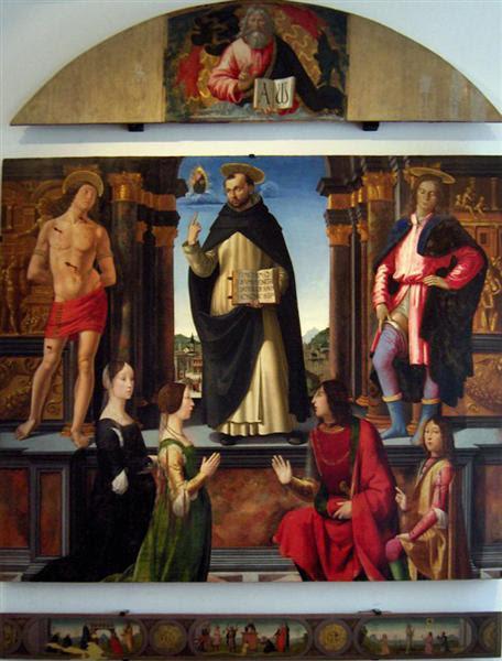 Altarpiece of St. Vincent Ferrer - Ghirlandaio Domenico