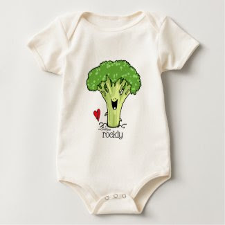 Broccoli Cartoon - Veggie Onesie shirt