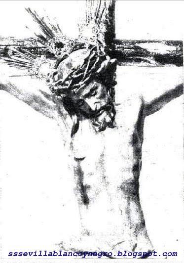 Las Cofradias De Sevilla En Blanco Y Negro Santísimo Cristo De La