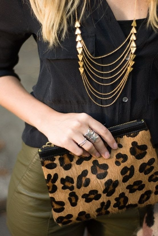 Love statement necklaces and bags