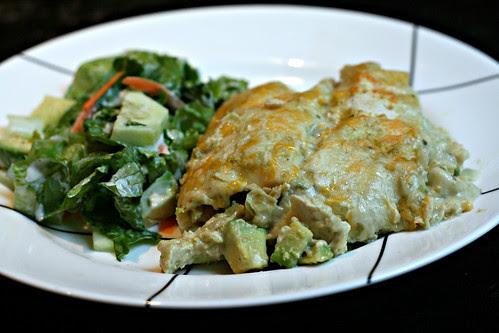 Chicken and Avocado Enchiladas