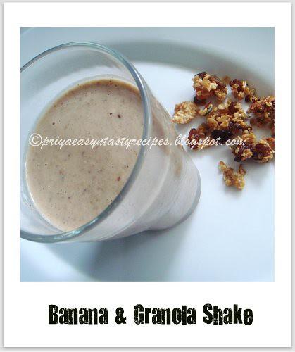 Banana & Granola shake