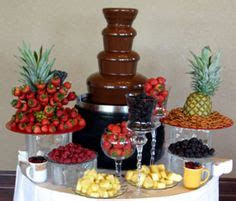 indulge  guests   delicious chocolate fountain