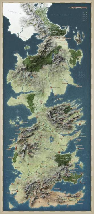 game of thrones map of westeros. Tagged: reblogpretty map