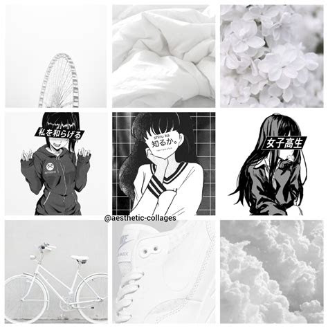yeet black  white anime aesthetic