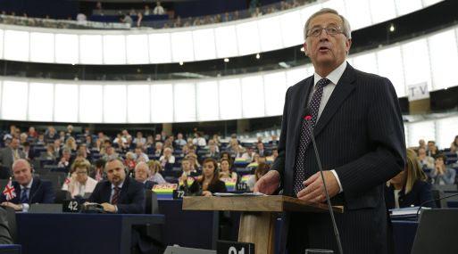 Juncker el 15 de julio en su elección como nuevo Presidente de la Comisión