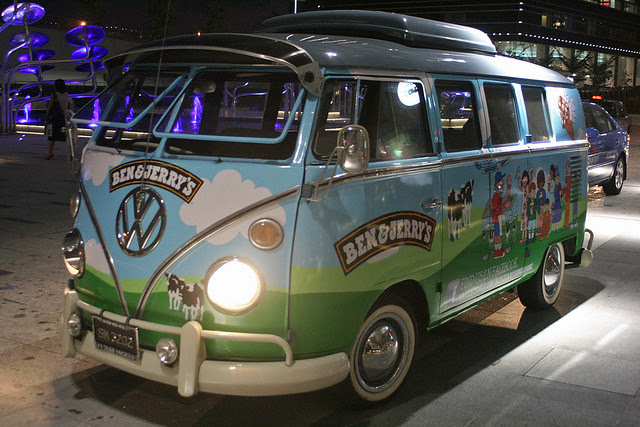 The Ben & Jerry Cowmobile