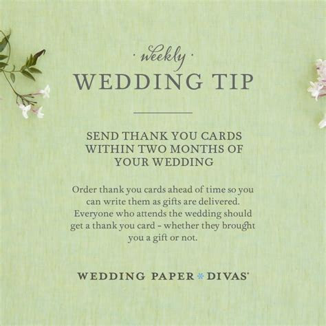 Ask Etta: Wedding Thank You Notes Timeline   Wedding order