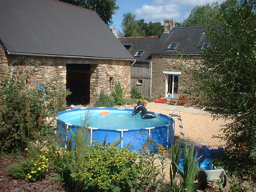Our holiday home swimming pool