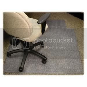 Rolling chair rug protector