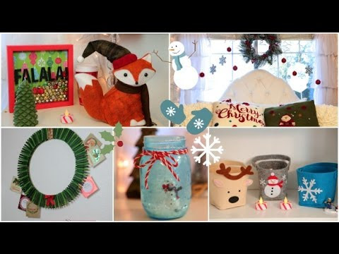 DIY Holiday room Decorations   Easy ways to decorate/organize