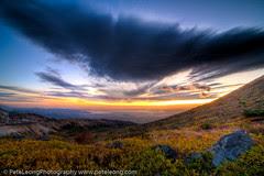 Daylight sweeps across the plateau