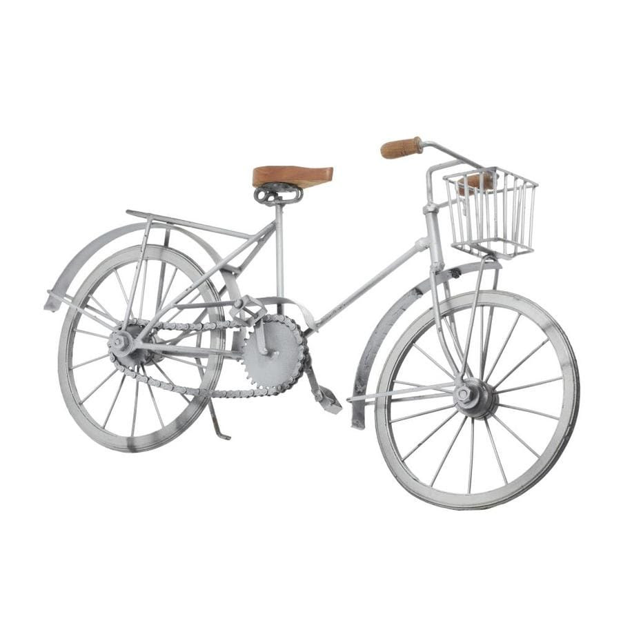 Grayson Lane Eclectic Silver Miniature Model Metal Bicycle Home Decor 19 Inw 10 Inh 1 98 Lbs In The Decorative Accessories Department At Lowes Com