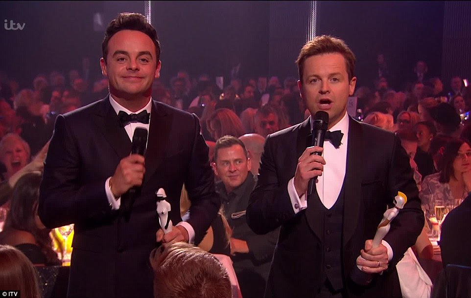 'No capes!': Show hosts Ant McPartlin andDeclan Donnelly referenced Madonna's spectacular fall at the 2015 ceremony