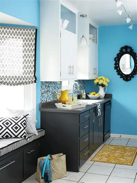 blue kitchen design ideas  homes gardens