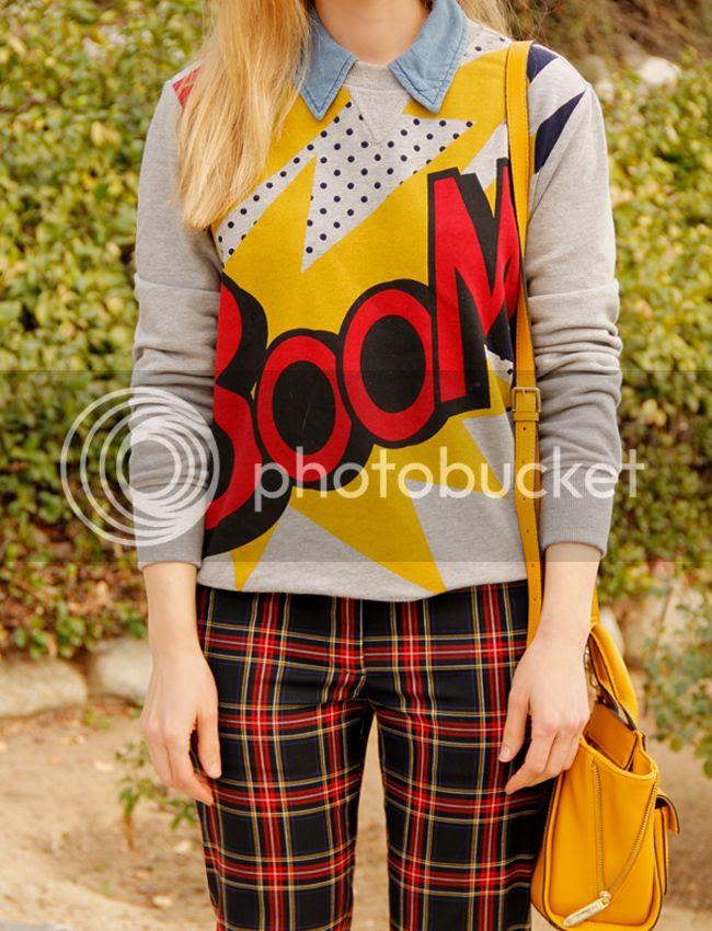 Phillip Lim for Target boom sweatshirt and Joe Fresh plaid pants