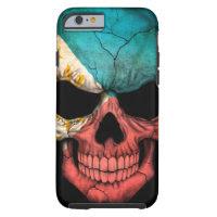 Filipino Flag Skull on Black Tough iPhone 6 Case