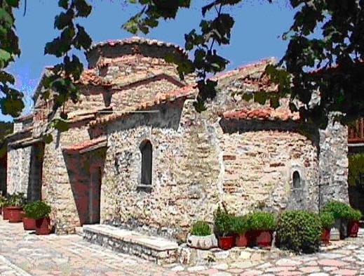 Ο ναός του μοναστηριού της Μυρτιάς