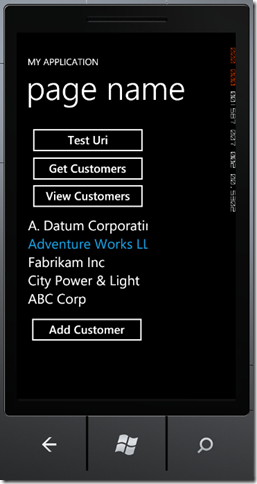 phone2 thumb Windows Phone 7 Line of Business App Dev :: Working with an In Memory Database