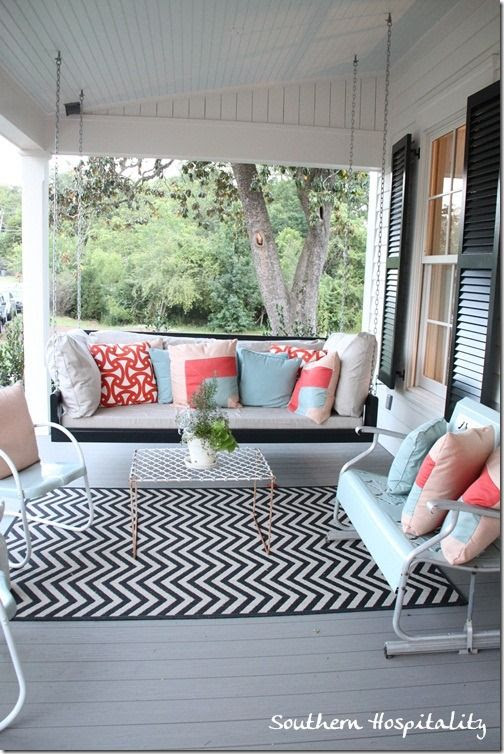 front porch decor chevron outdoor rug