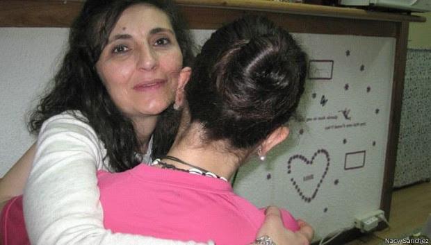 Mariángeles teve que denunciar a filha devido ao caso de violência em casa  (Foto: Nancy Sanchez/BBC)