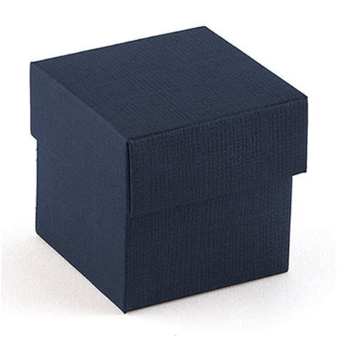 Navy Blue Favor Box with Lid   The Knot Shop