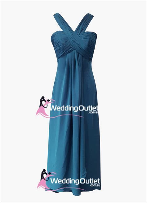 Teal bridesmaid dresses halter neck style #AQ101