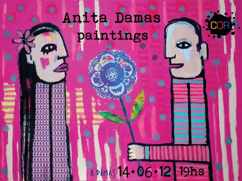 Invitation to my exhibition - COR Galeria - 14/06/12 by good mood factory / Anita Damas