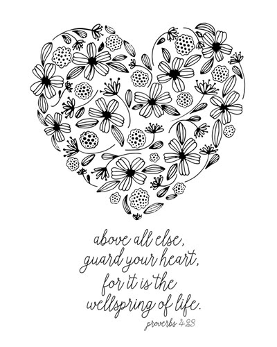 Guard Your Heart - Proverbs 4 23 | Coloring Canvas - Canvas On Demand