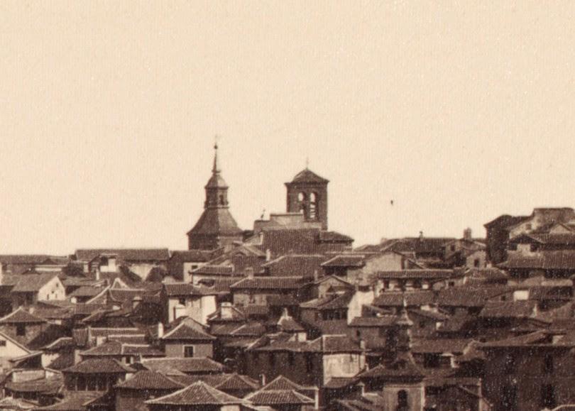 Iglesia de la Magdalena de Toledo en 1857. Detalle de una fotografía de Charles Clifford
