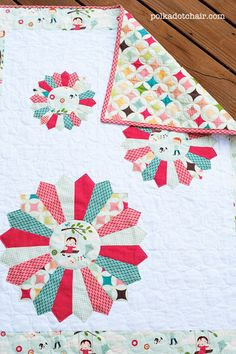 Tutorial for Dresden Burst Baby Quilt @ polka dot chair  Cute combination of fabric!