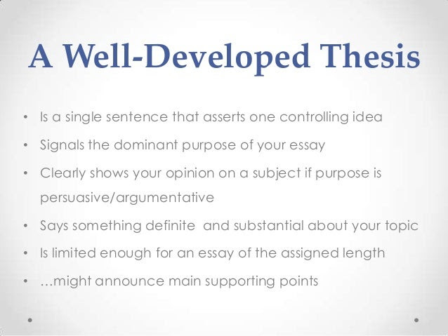 how to write a historical thesis statement