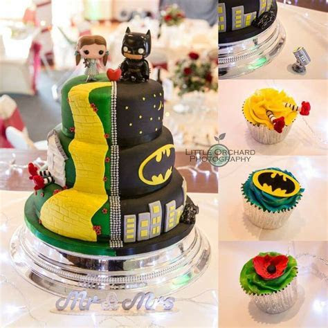 My fab custom wizard of oz and batman wedding cake with