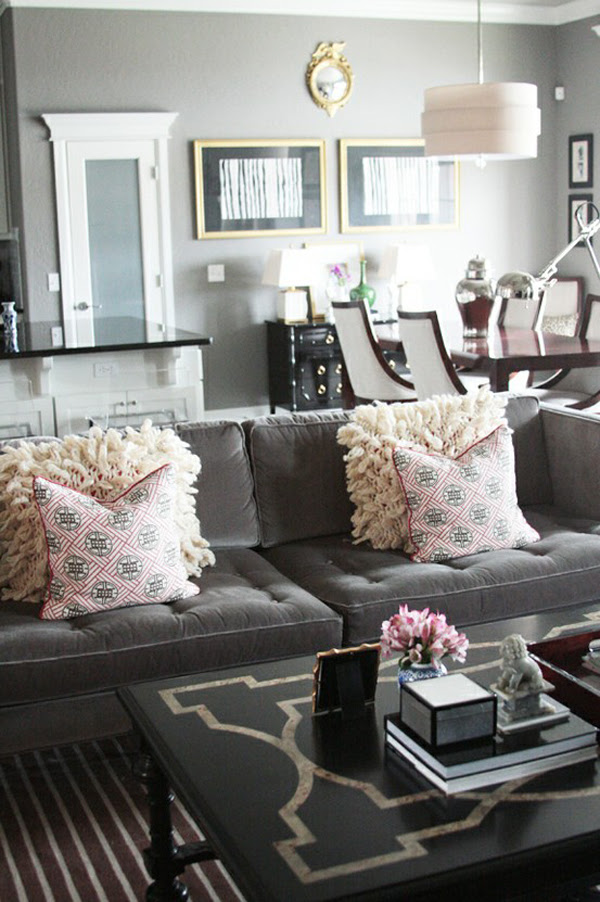 25 Gray Living Room Design Ideas - Decoration Love