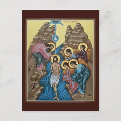 Baptism of our Lord Prayer Card Post Card by holyicons