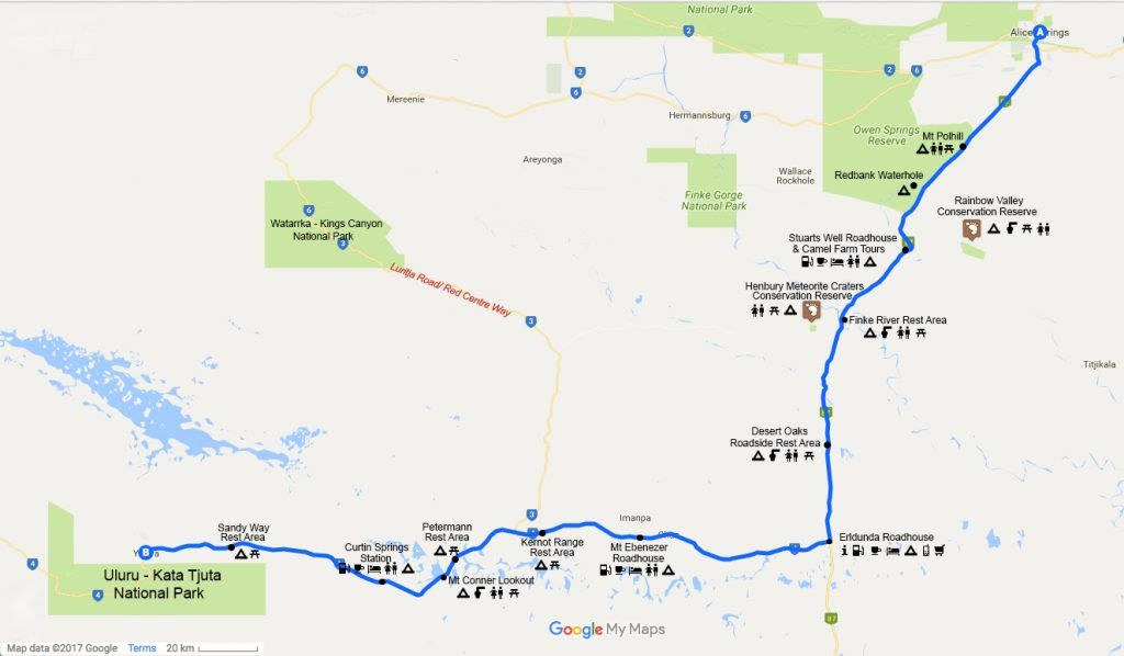 Driving From Alice Springs To Ayers Rock