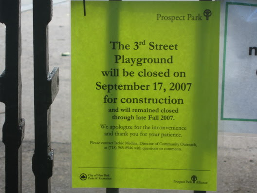 Third Street Playground Sign