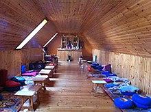 Holy Isle boathouse