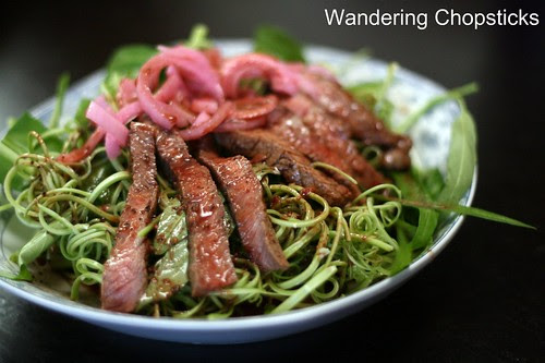 Xa Lach Thit Bo Rau Muong (Vietnamese Beef and Water Spinach Salad) 2