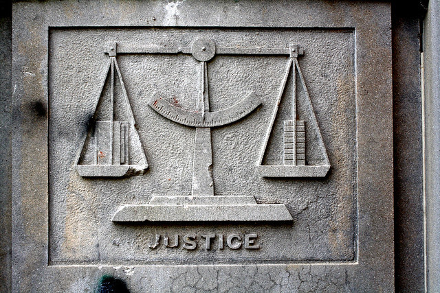 The scales of justice are never balanced
