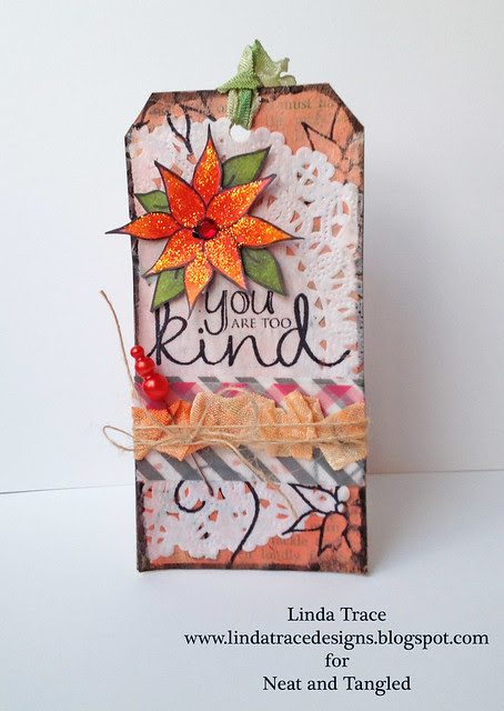 Neat and Tangled Mixed Media tag