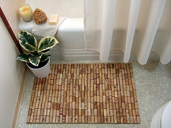 Cork bath mat