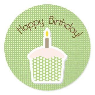 Cupcake Birthday Design Cupcake Topper/Sticker zazzle_sticker