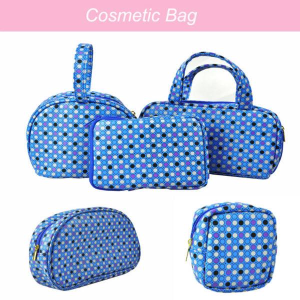 Blue PU cosmetic bag PU cosmetic bag promotion, View PU cosmetic