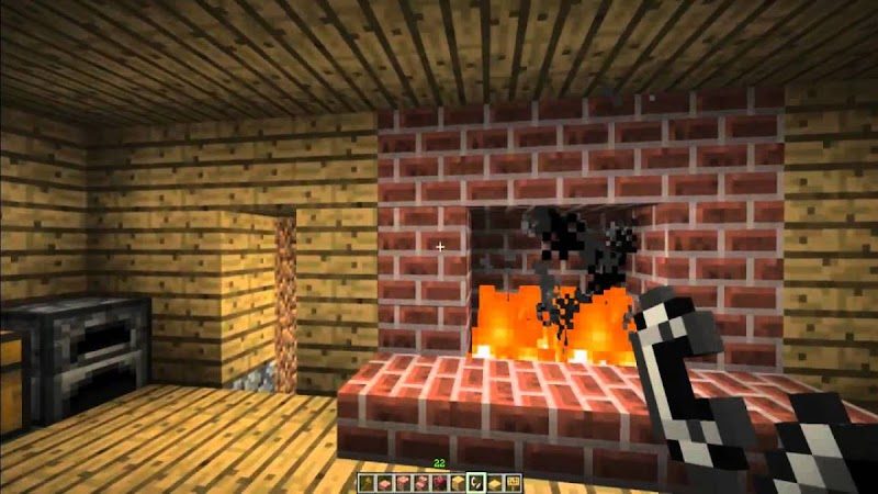 Beautiful Fireplace Design Minecraft wallpaper