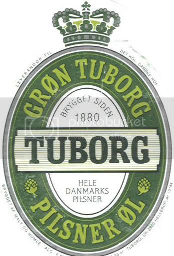 Tuborg Beer from Denmark