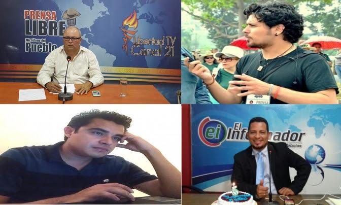 Fotos arriba: de izquierda a derecha: Los periodistas Ariel D´Vicente y Ricardo Ellner . Fotos de abajo de Derecha a izquierda: Jairo López y Gerardo Torres.