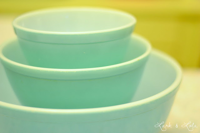 Pyrex Turquoise 404, 402, $ 401