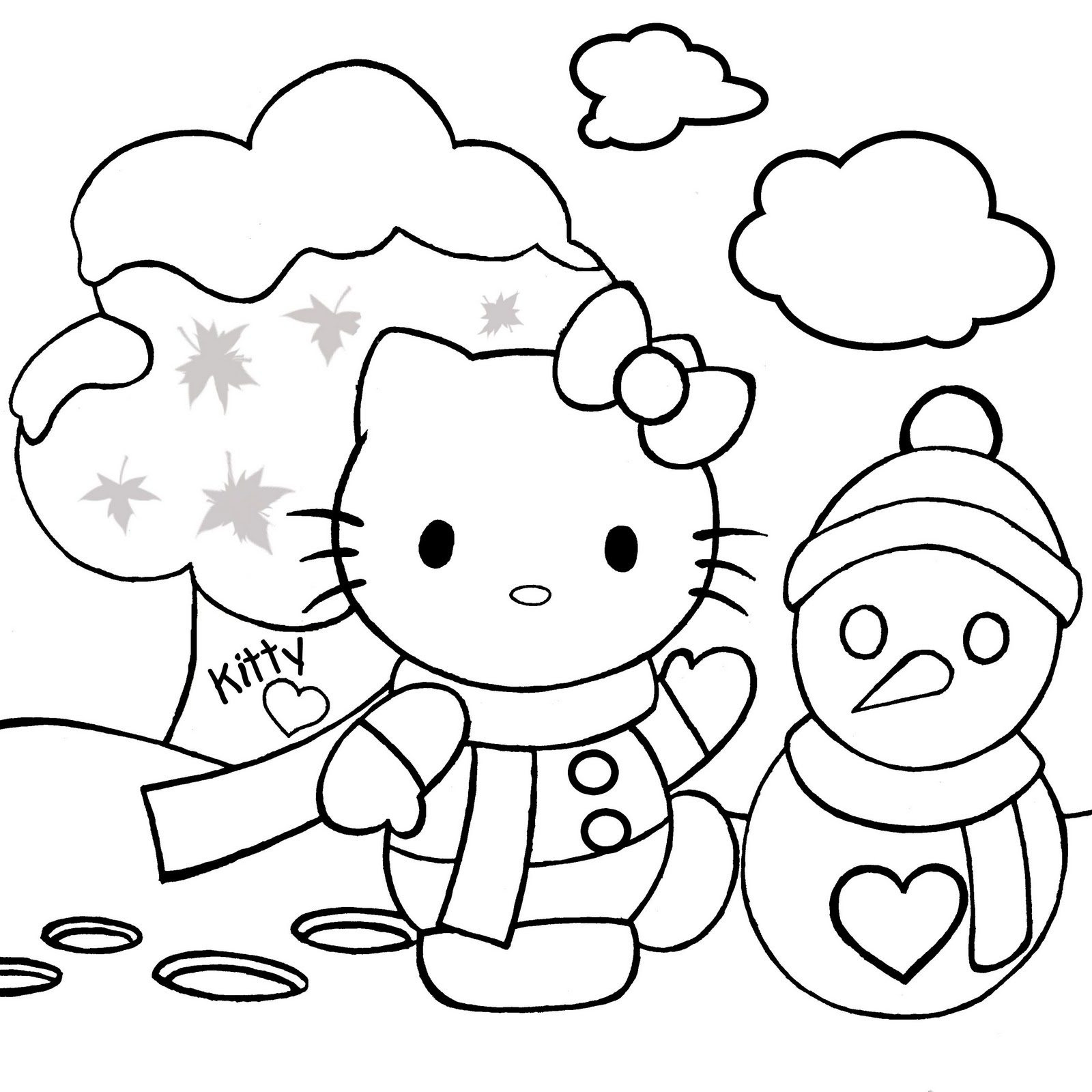 Kitty Coloring Pages Free Download Best Kitty Coloring Pages On