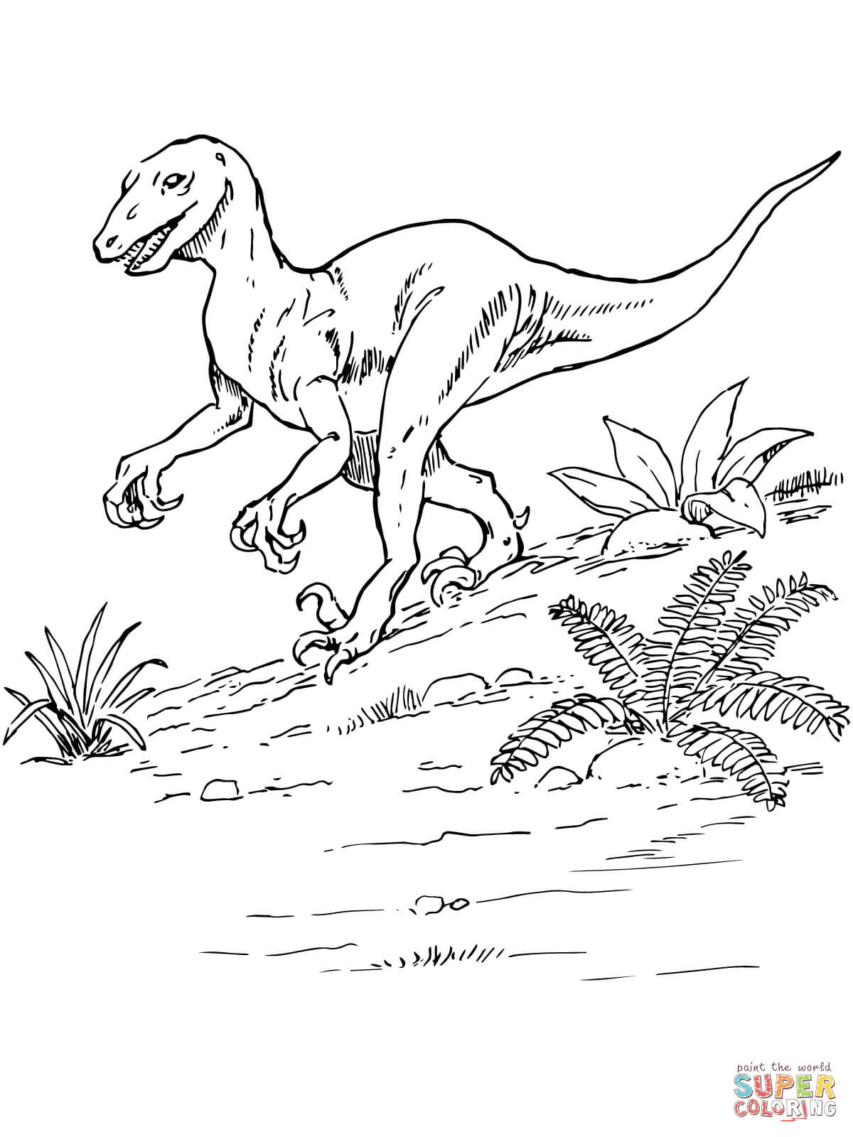 er sur la Dinosaure Deinonychus coloriages pour visualiser la version imprimable ou colorier en ligne patible avec les tablettes iPad et Android